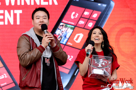Co-hosting the 2013 San Francisco Verizon Lunar New Year with YouTube comedian, David So Photo credit: Michael Jeong
