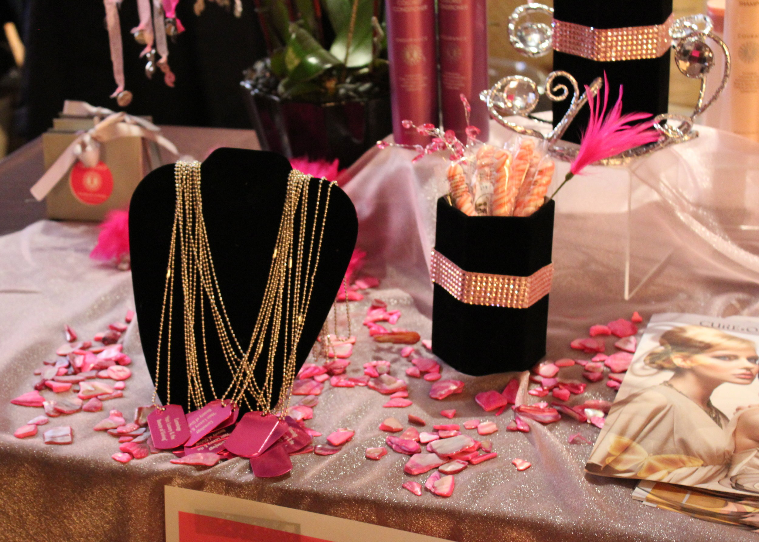 Lots of bling and jewelry were featured at the suite.