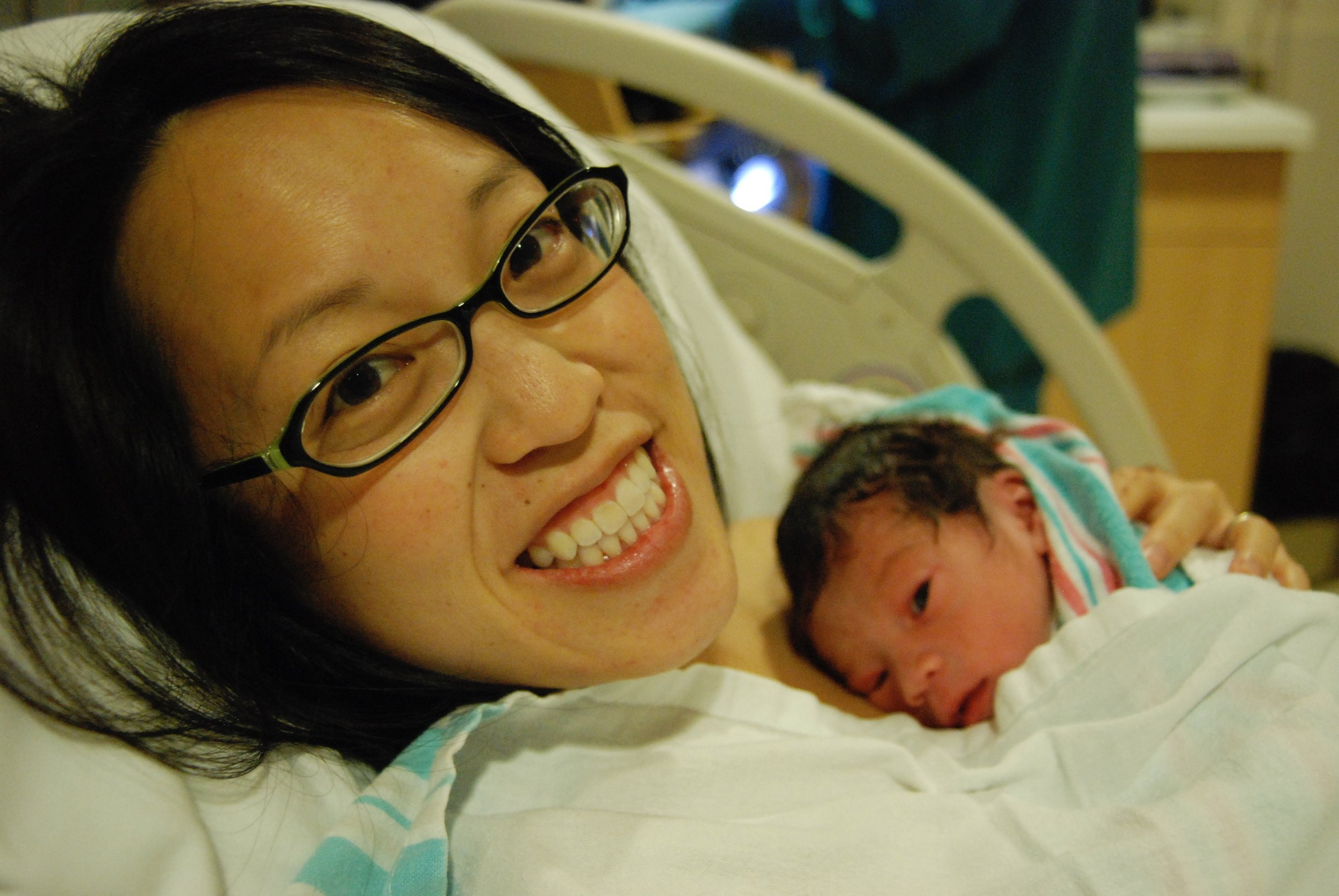 Melody Ip with her newborn son